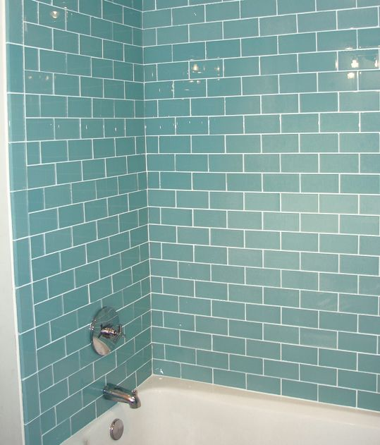 Teal Subway Tile Baderoms Inspirasjon Pinterest Teal