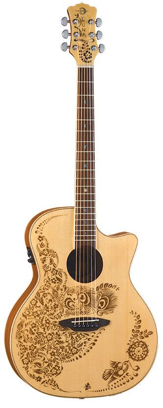 Luna Guitars Henna Oasis Spruce Series II Nylon String Acoustic-Electric Guitar in Musical Instruments, Guitars & Basses, Electro-Acoustic | eBay