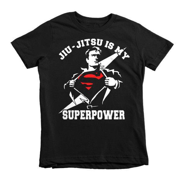 Jiu Jitsu is My SuperPower - Short sleeve kids BJJ t-shirt
