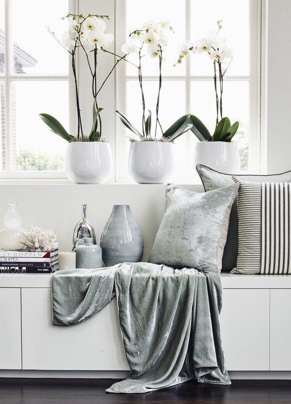 Crushed Velvet And Linen Cushion - from http://www.kellyhoppen.com/