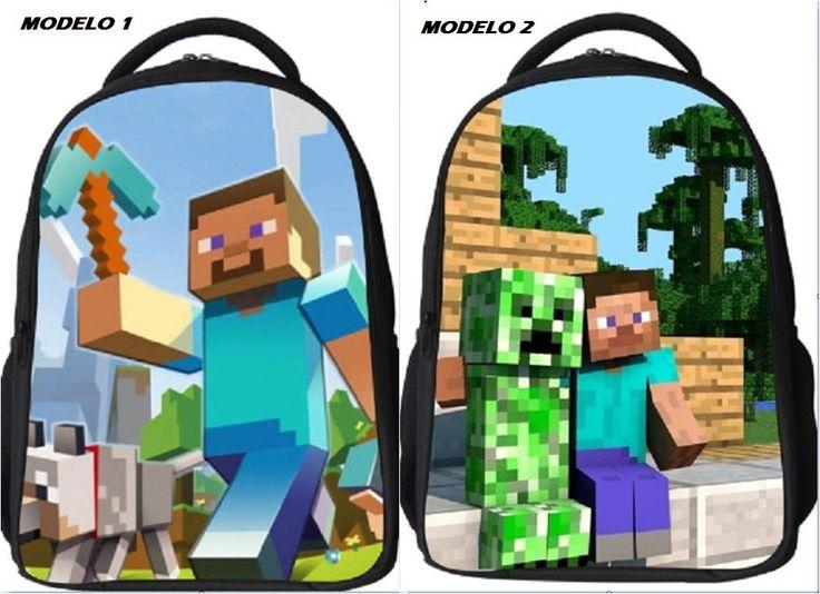 Mochila Escolar Minecraft Cosas Para Comprar Pinterest