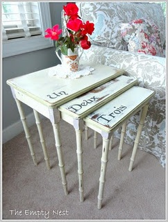I like the french numbers on this set of tables