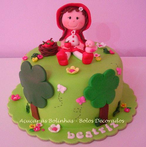 Bolo da Beatriz - Capuchinho Vermelho - Açucar às Bolinhas Bolos DecoradosWas Rosa-Choqa, Bolo Chapeuzinho, Bolo Da, De Bolo, Decorated Cake, Bolinhas Bolo