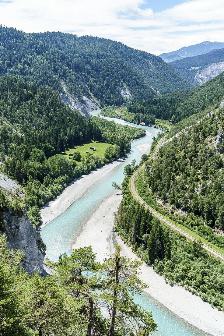 Rheinschlucht Surselva Graubünden
