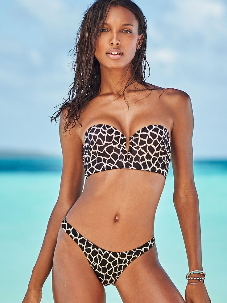 Sexy bikini - Plunge long ine bandeau by Victoria's Secret for $30. Buy it here: http://justbestylish.com/10-hottest-swimsuits-to-heat-up-your-honeymoon/10/