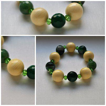 bracciale in agata e radice di osso con elastico, by Bagu Bijoux, 7,00 € su misshobby.com