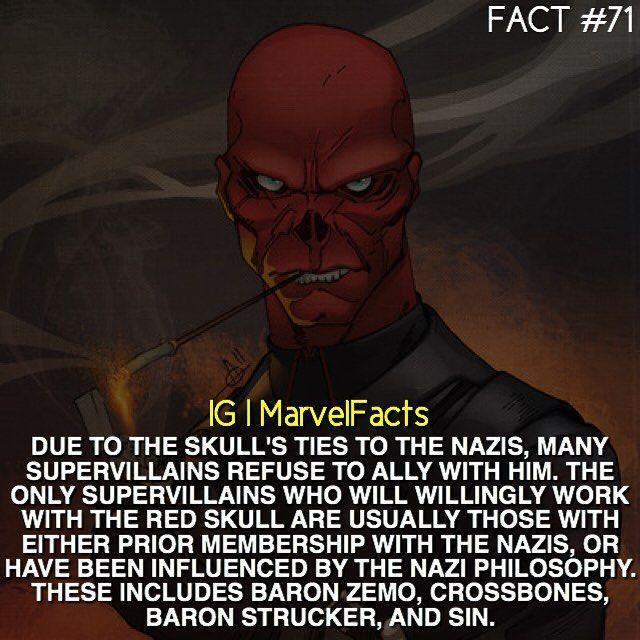 Marvel Facts<<<Even villains hate Nazis! :D