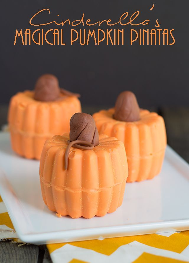 I'm celebrating Cinderella's dvd release with these Cinderella's Magical Pumpkin Pinatas! They're fun for a Cinderella party or just for fall. Kids love 'em