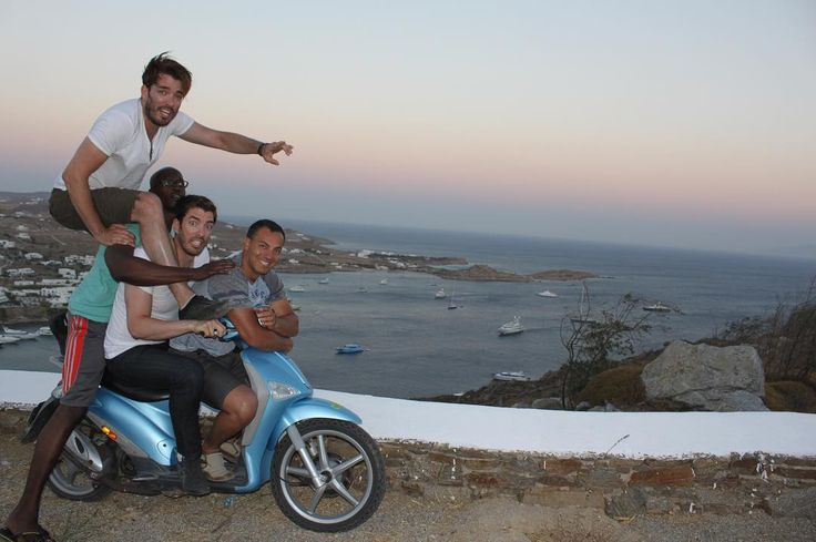 """Jonathan Scott on Instagram: """"Causing trouble in Mykonos! There's more of this in Chapter 8 of #ItTakesTwoBook... get your copy via link in bio. #TBT"""""""