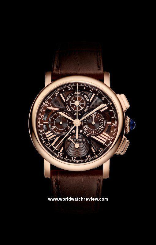 Cartier Rotonde de Cartier Perpetual Calendar Chronograph in rose gold (front)