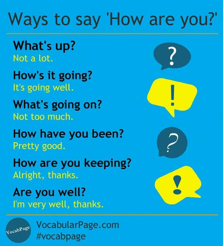 Ways to say 'How are you?'
