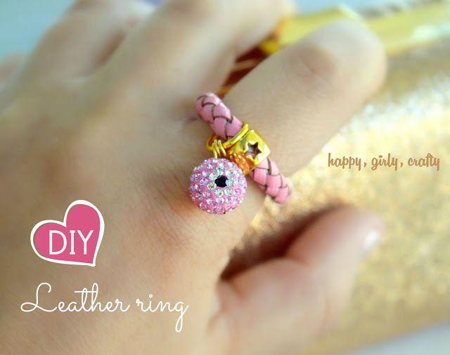 Evil eye leather ring DIY!