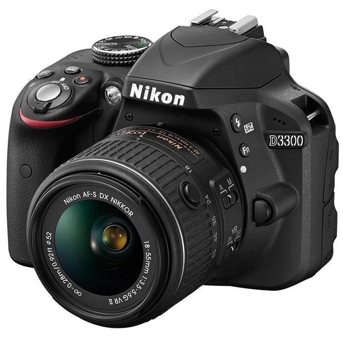 NIKON D3300 KIT + 18-55VRII Noir - Achat / Vente appareil photo réflex - Cdiscount