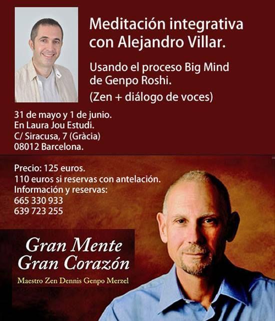 El 31 de mayo y 1 de junio, taller en Barcelona.