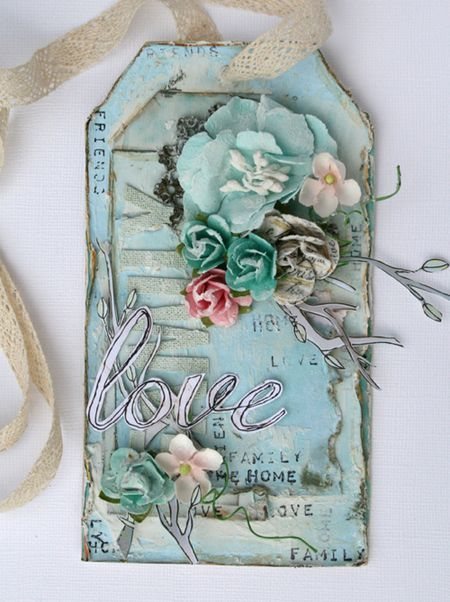 Mixed media tag by Nic Howard for Prima! www.prima.typepad.com