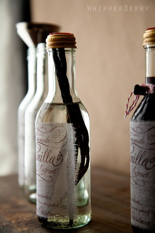 DIY - Homemade Vanilla Extract with Fabric Labels - Recipe Tutorial