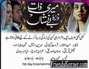 Meri Zaat Zara-e-Benishan - This Pakistani Urdu TV Serial is amazing! It is based on an Urdu novel by Umera Ahmed. I simply loved it.