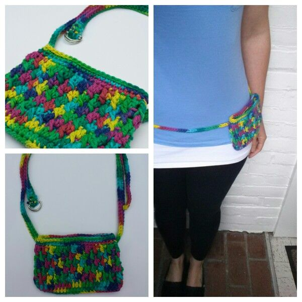 Crochet hip Bag, fanny pack, pouch, belt bag, festival bag ...