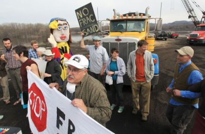 Steve Clemens: Letter to Judge in Fracking Trail Refusing in Conscience to Pay Fine   Rise Up Times  Steve Clemens holds sign at Winona Fracking Protest