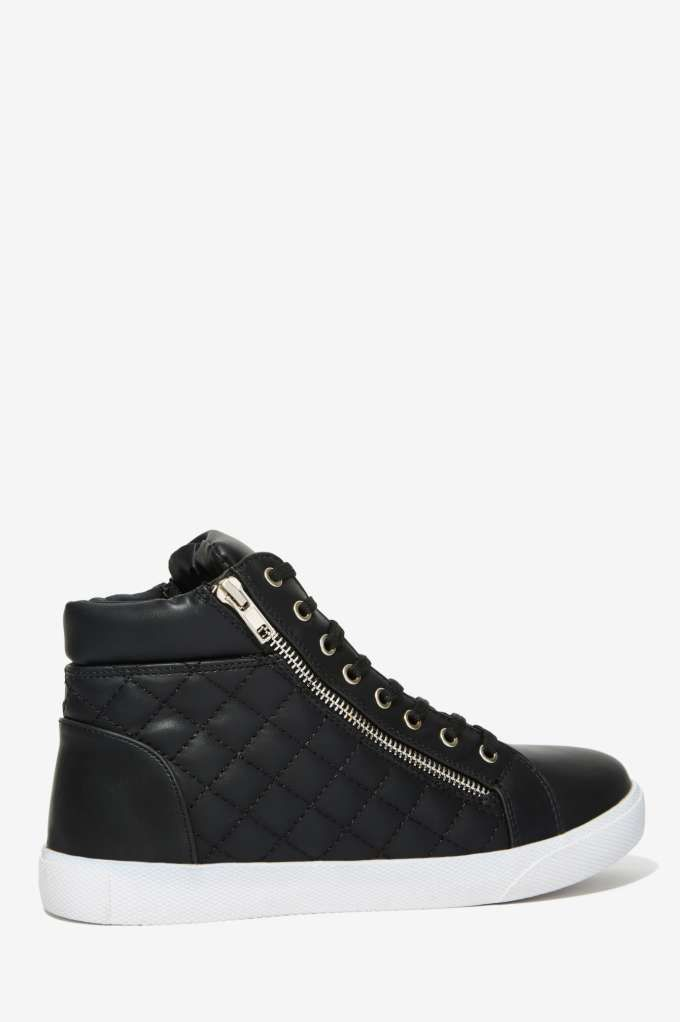 Steve Madden Decaf Quilted Sneaker - Shoes   High-Tops