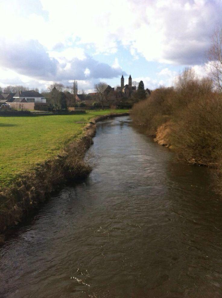 St. Odiliusberg ziet er prachtig uit vanuit de verte. #dag 24 Swalmen- Montfort