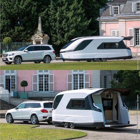 """12.6 mil curtidas, 25 comentários - Avto_msk (@avto_msk) no Instagram: """"Mercedes-Benz GL Внутри имеются две односпальные кровати в V-форме, которые могут легко…"""""""