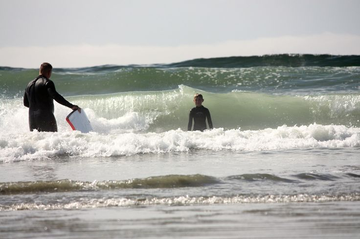 Kids (big and small) love playing in the waves, but did you know there are some amazing #surfing #beaches on #vancouverisland? North Chesterman Beach near #tofino is amazing.  www.breakpointtravelguides.com