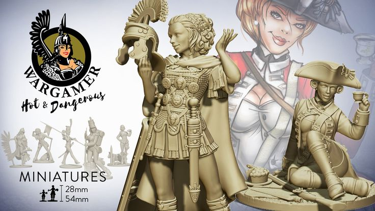 Hot and Dangerous is a brand new line of amazing pin-up style miniatures wearing uniforms of the most iconic military units