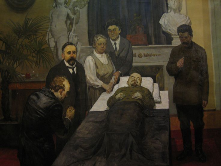 Lenin on his deathbed | Russian Revolution Art | Pinterest