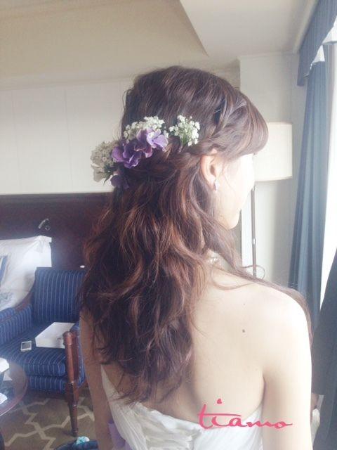 大人かわいいマーメイドカラードレス♡3スタイル の画像|大人可愛いブライダルヘアメイク『tiamo』の結婚カタログ