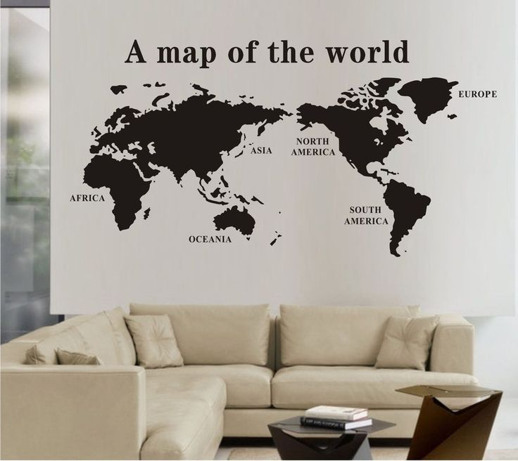 World Map Wall Mural Vinyl Decal