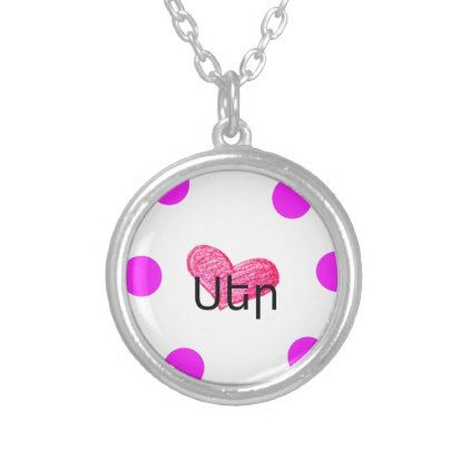 Armenian Language of Love Design Silver Plated Necklace - jewelry jewellery unique special diy gift present