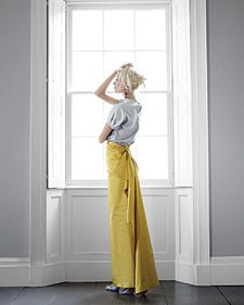 Glam wrap skirt tutorial - no sewing required!