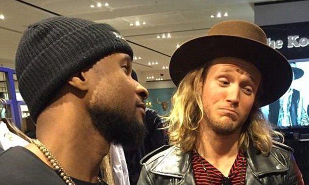 Usher bumps into McBusted's Dougie Poynter