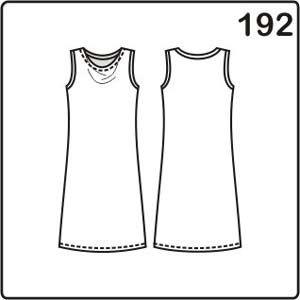 Выкройка летнего платья с драпировкой на горловине очень простая. В больших размерах платья есть вытачки, проймы и горловина спинки окантовываются.