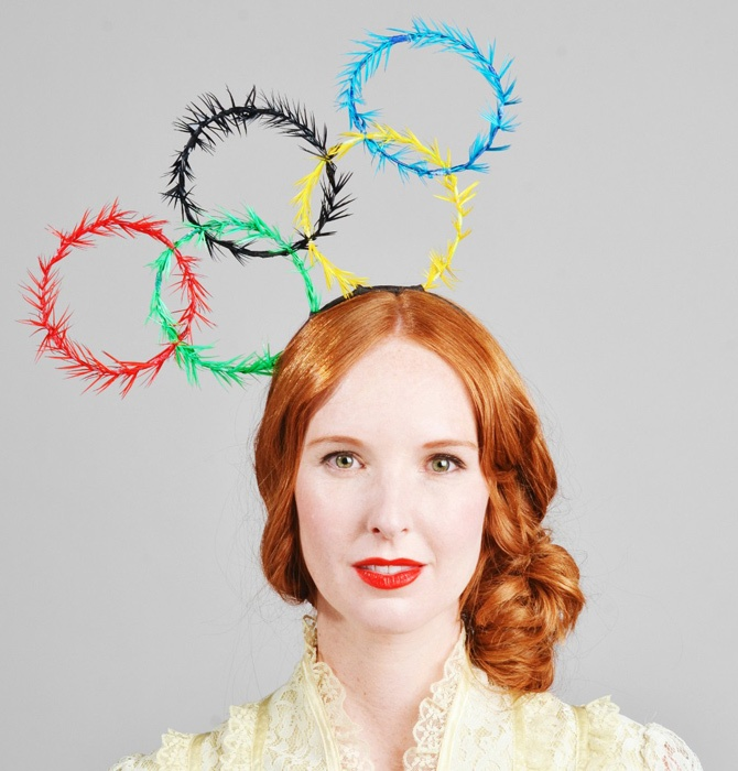 Olympia headpiece via Wee Birdy. #London #Olympics #LondonOlympics