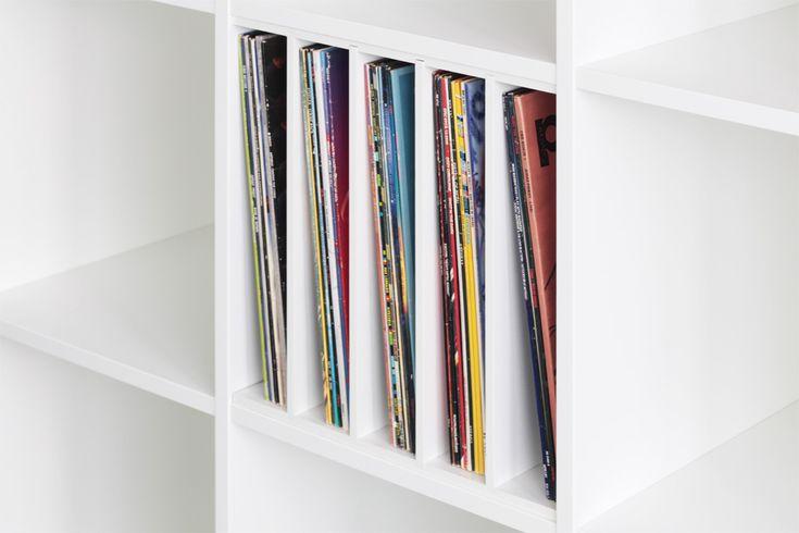 Schallplatten Fachteiler für Ikea Expedit Regal