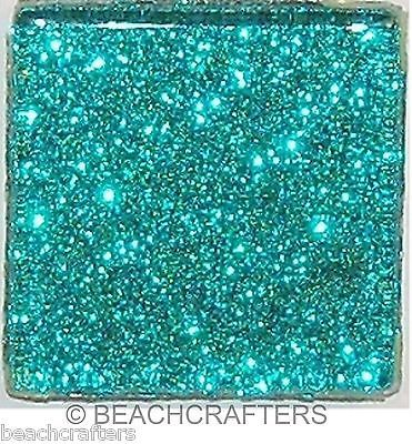 15 Tiles 1 inch Aqua Glitter Glass Mosaic Tiles | eBay