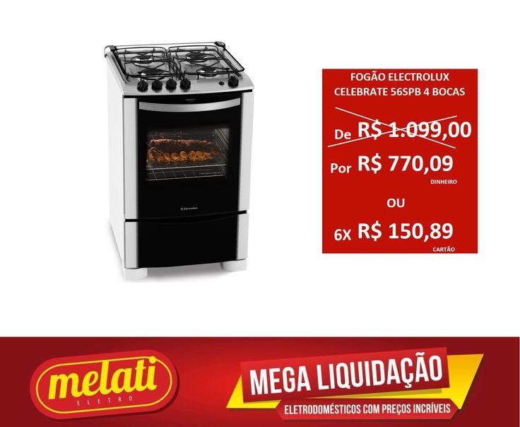 SALDÃO FOGÃO ELECTROLUX CELEBRATE 56SPB 4 BOCAS ========================================== CLASSIFICAÇÃO DO PRODUTO SALDO => https://www.melatieletro.com.br/pagina/nossos-produtos.html  ==========================================  📌 ❶ A͟͟N͟͟O͟͟ D͟͟E͟͟ G͟͟A͟͟R͟͟A͟͟NT͟͟I͟͟A͟͟ CONTRA DEFEITO FUNCIONAL  ==========================================  🚛 F͟͟R͟͟E͟͟T͟͟E͟͟ G͟͟R͟͟A͟͟T͟͟I͟͟S͟͟ consulte as regras do frete grátis ==========================================  📍ENDEREÇO DA LOJA   RUA INGÁ…
