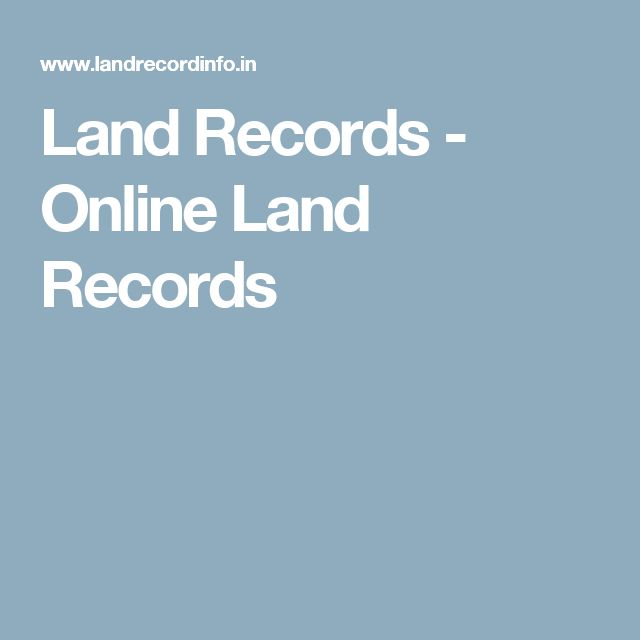 Land Records - Online Land Records