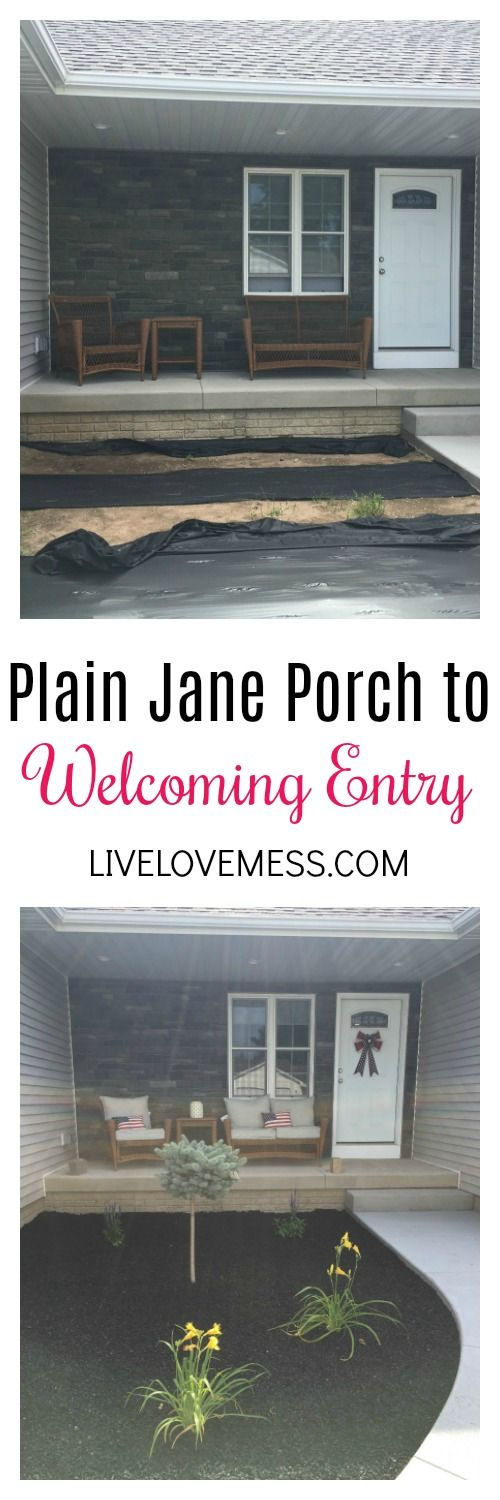 Plain Jane to Welcoming, Front Porch, Patriotic, 4th of July, Independence Day, DIY, Decor