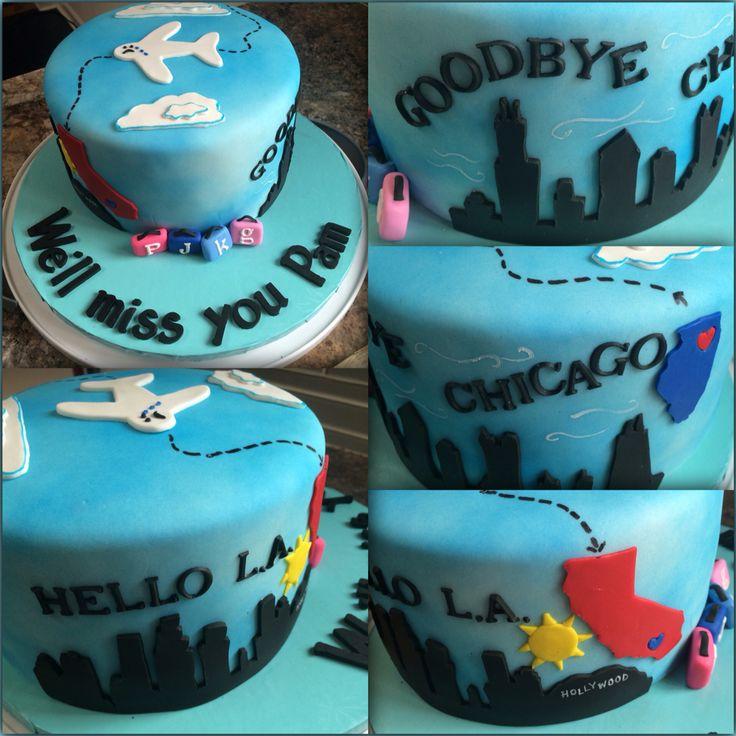 Goodbye cake. Farewell well cake Going away cake.