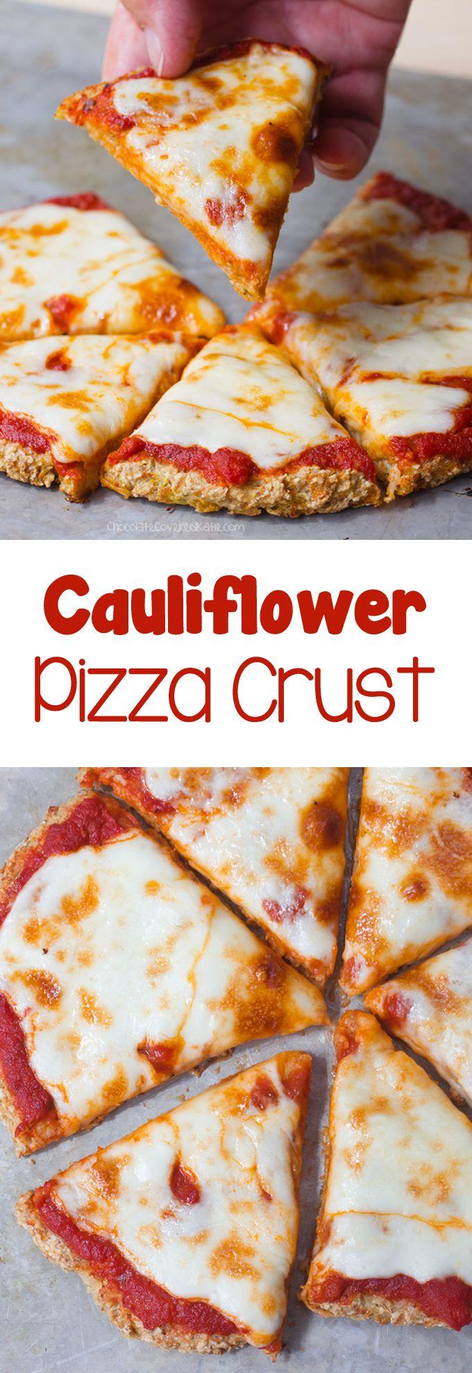Coliflor Corteza de la pizza - Ingredientes: 1 coliflor, 1/4 taza de agua, 1 cucharadita de orégano, 2 cucharadas de ... receta completa: @choccoveredkt chocolatecoveredkatie.com/2016/09/05/cauliflower-pizza-crust-vegan/