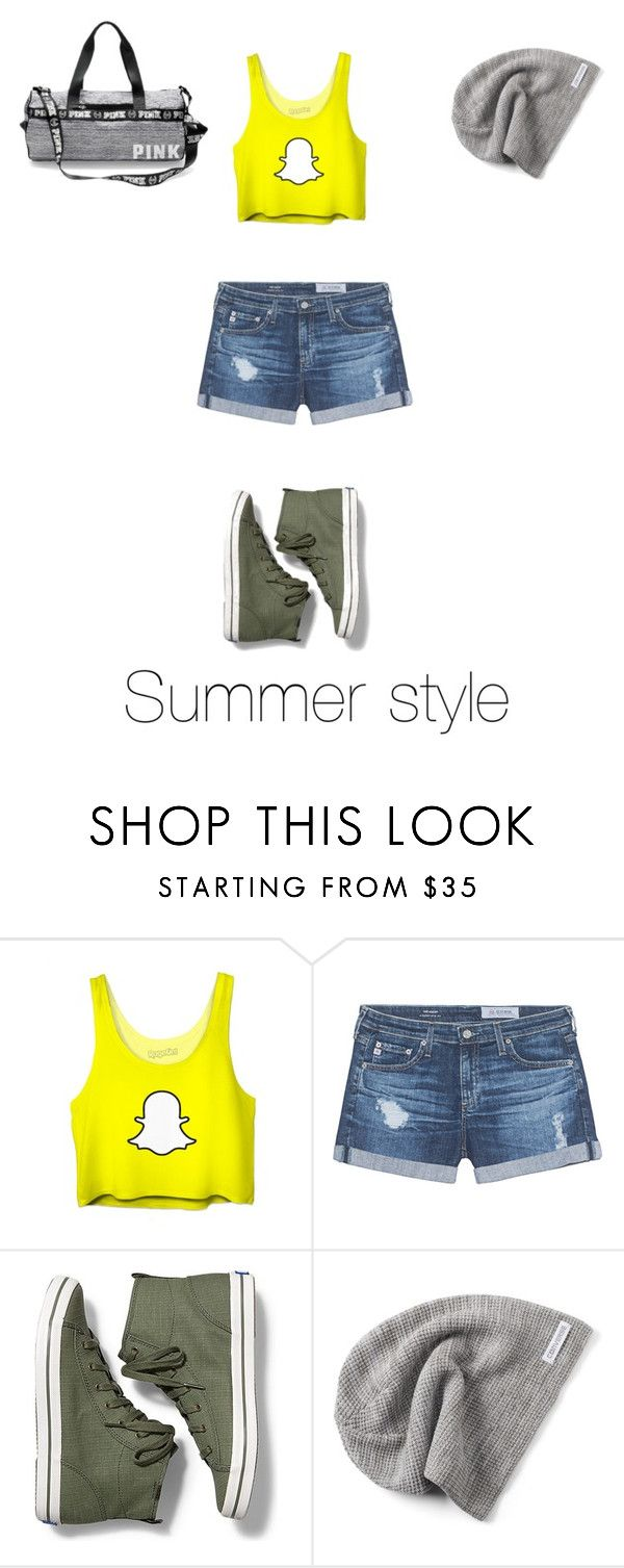 """Summer style"" by chloejmo on Polyvore featuring AG Adriano Goldschmied, Keds and Converse"