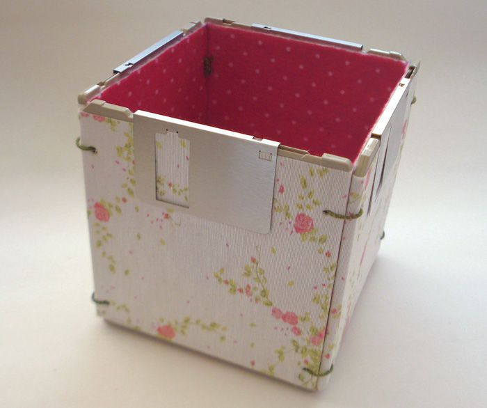 Porta-treco cubo floral