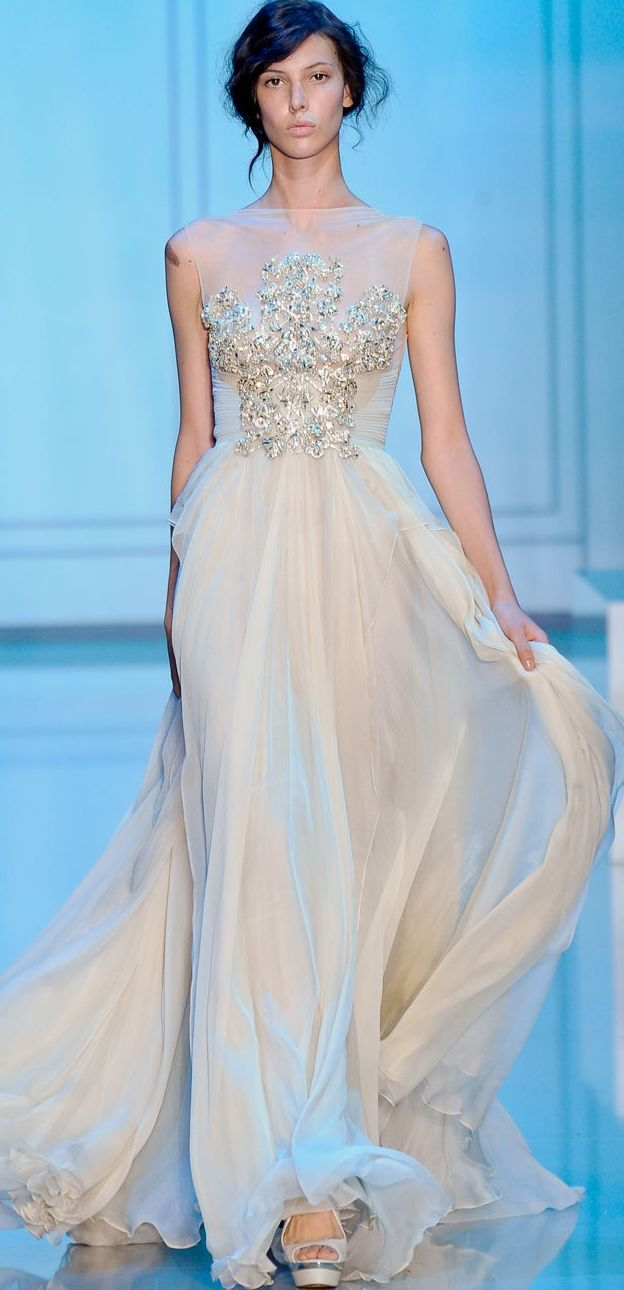 The embellishment!!! Love this style - Elie Saab #TopshopPromQueen
