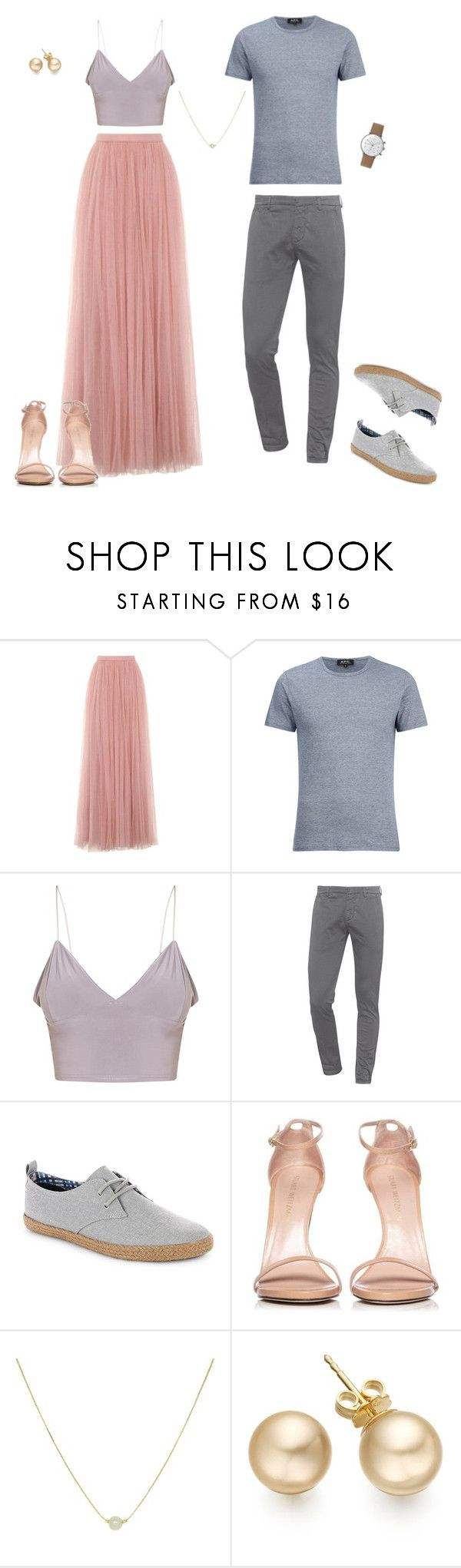 What to wear for summer engagement pictures by Erica Sofet Photography on Polyvore featuring Little Mistress, Stuart Weitzman, Dondup, A.P.C., Ben Sherman and Junghans