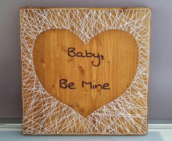 Guarda questo articolo nel mio negozio Etsy https://www.etsy.com/it/listing/236824530/string-art-on-wood-string-artlove