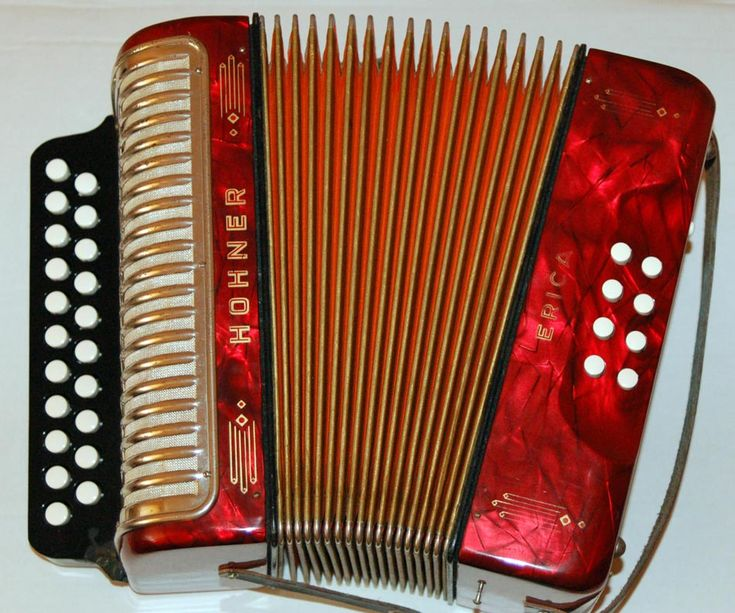 Irish Traditional Music - The Accordion is a very popular instrument in modern Irish country music and is available in different forms. The two row button accordion as shown in the picture is popular with traditional Irish country accordion players