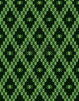Malha de l� perfeita jacquard textura ornamento. Tecido verde cor de fundo rendilhado photo